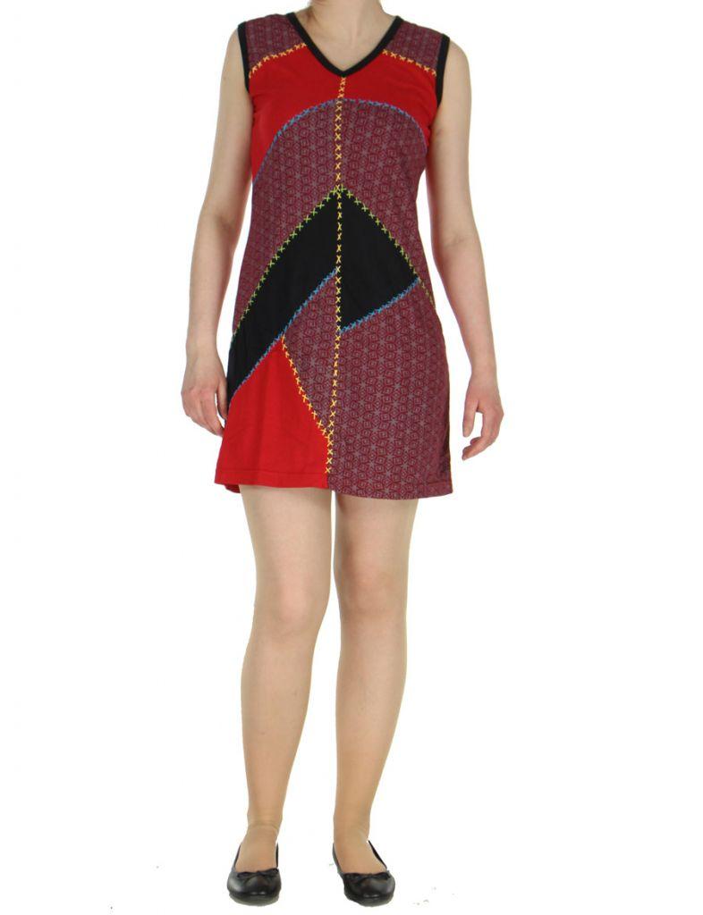 Robe courte du Népal rouge Adelma 268423
