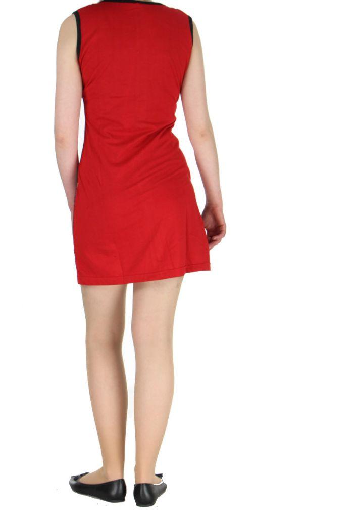 Robe courte du Népal rouge Adelma 268424