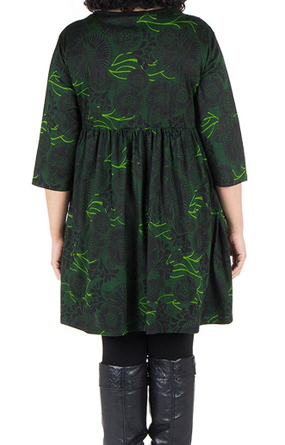 Robe courte et imprimés camaieu vert Forest 301707