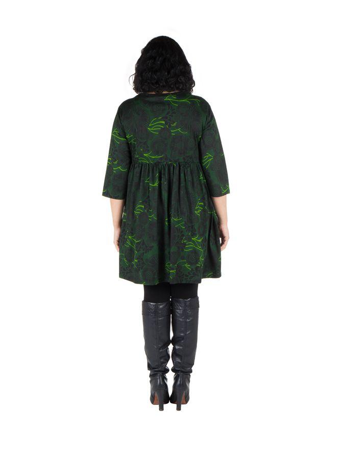 Robe courte et imprimés camaieu vert Forest 301709