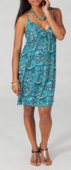 Robe courte ethnique col V à fines bretelles Munyma 4 271784