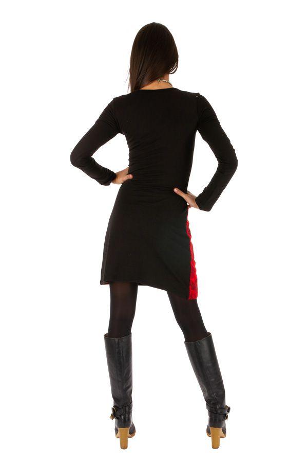 Robe courte femme d'hiver ethnique et colorée Damaturu 313430