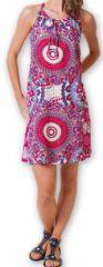 Robe courte fluide d'été Ethnique et Imprimée Teresa Rose 277176