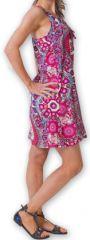 Robe courte fluide d'été Ethnique et Imprimée Teresa Rose 277177