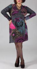 Robe courte grande taille Color�e et Originale Hannae 274780
