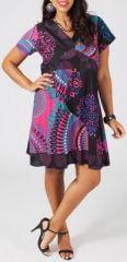Robe courte grande taille ethnique et colorée Julietta