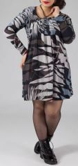 Robe courte grande taille Ethnique et Originale Kady Imprim�e Nature 274896