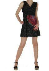 Robe courte imprim�e fashion nawar noire 261016