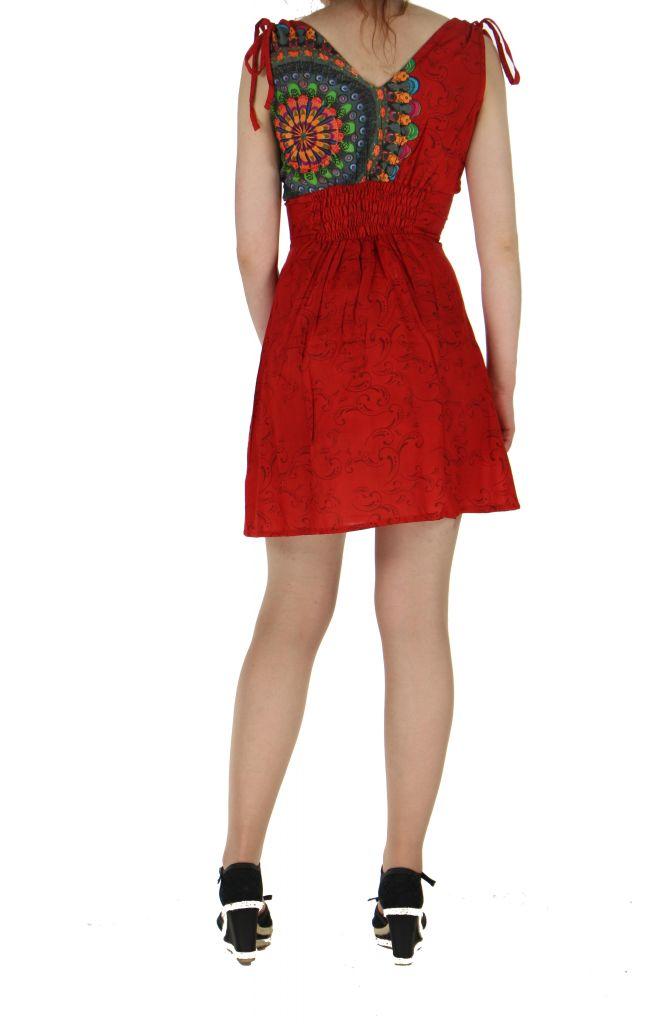 Robe courte imprimée fashion nawar rouge 261013