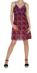 Robe courte imprimée lylops violet 245115