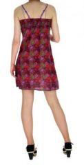 Robe courte imprimée lylops violet 255146