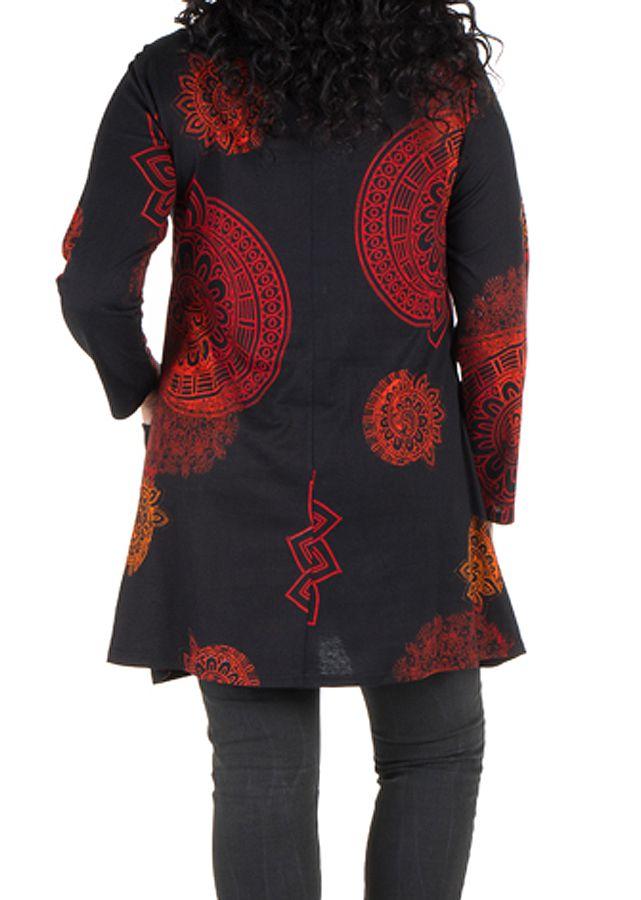 Robe courte imprimés mandala à manches longues Fire 301981