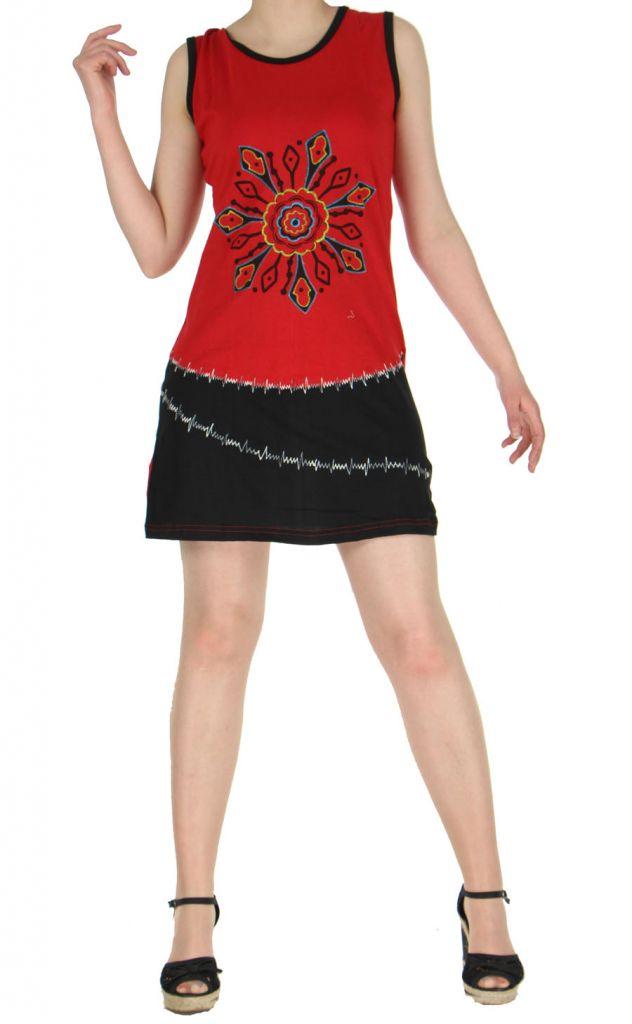 Robe courte Népalaise rouge Mélodie 268933