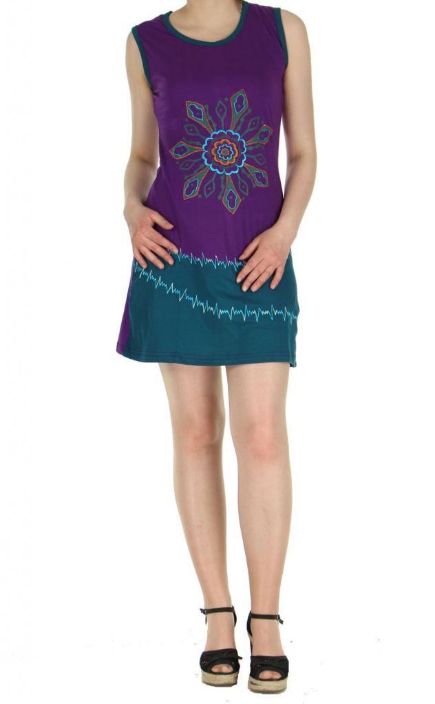 Robe courte Népalaise violette Mélodie 268931