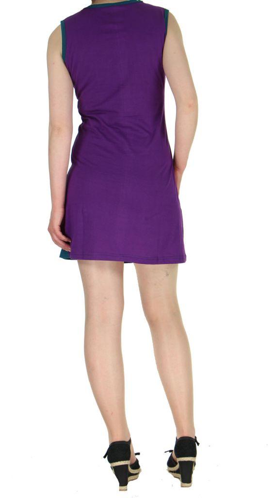 Robe courte Népalaise violette Mélodie 268932