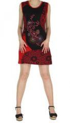 Robe courte noire imprimée Louisa 268941