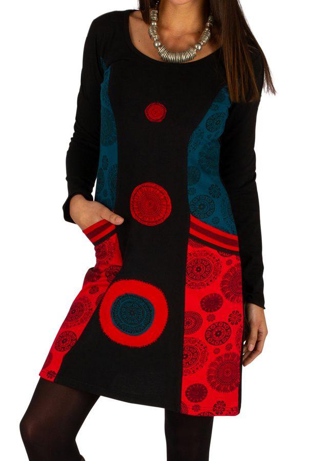 Robe courte originale et ethnique parfaite pour soirée Ondo 313431