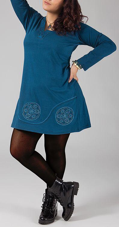 Robe courte originale grande taille pour l'hiver Maika 274455