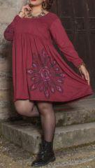 Robe courte originale pour femme pulpeuse et ronde Florence