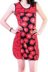 Robe courte pour l'été Originale et Imprimée Dounnia Rouge 276909