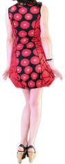 Robe courte pour l'été Originale et Imprimée Dounnia Rouge 276912