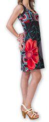 Robe courte sans manches Originale et Chic Calisa Noire 276851