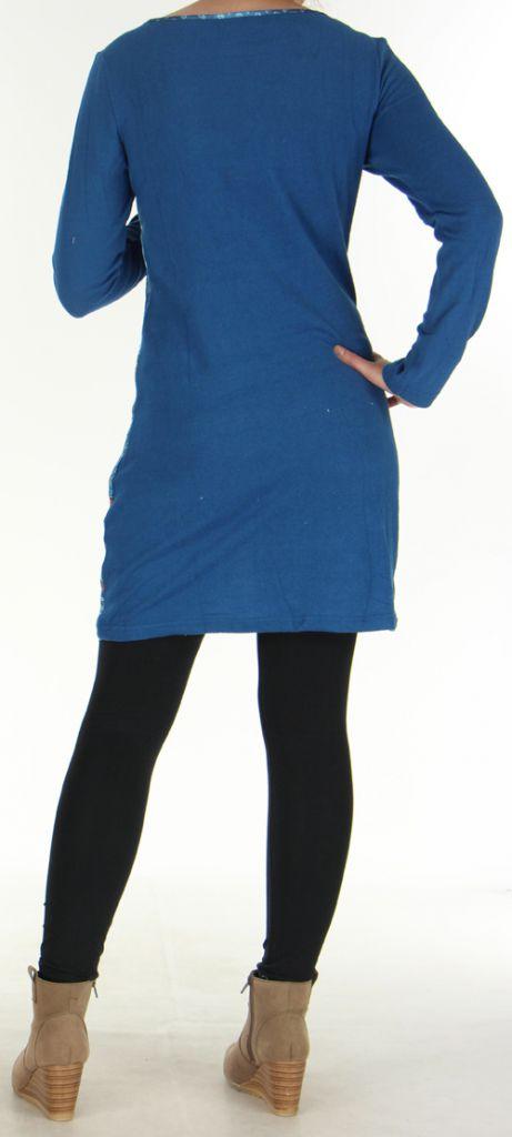 Robe courte Style Jean Ethnique et Colorée Tyméa Denim 276418