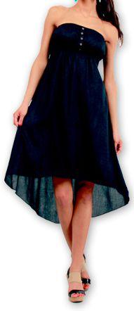 Robe d'été à bustier Elegante Originale et Chic Donna Noire 277014