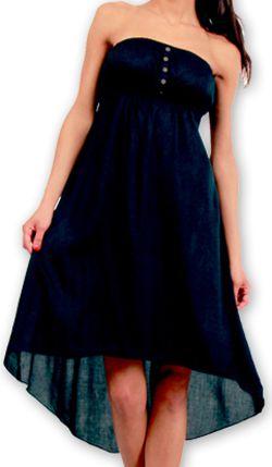 Robe d'été à bustier Elegante Originale et Chic Donna Noire 277015