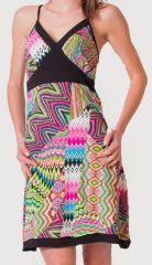 Robe d'été à fines bretelles Ethnique et Colorée Clarisa Rose 276889