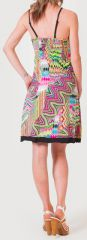 Robe d'été à fines bretelles Ethnique et Colorée Clarisa Rose 276892