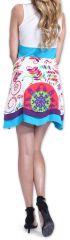 Robe d'été à larges bretelles Ethnique et Originale Claral Blanche 276884