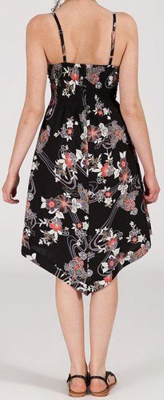 Robe d'été Asymétrique et Originale ASSIA Noire à fleurs RM344 272996