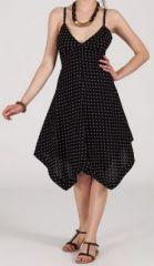 Robe d'�t� Asym�trique et Originale ASSIA Noire � pois RM339 273004