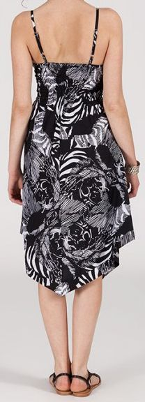 Robe d'été Asymétrique et Originale Assia Noire et Blanche RM350 272983