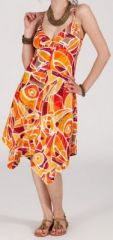 Robe d'�t� Asym�trique et Originale ASSIA Orange RM347 272988