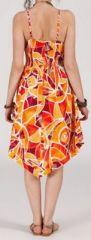 Robe d'été Asymétrique et Originale ASSIA Orange RM347 272989