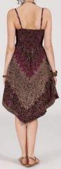 Robe d'été Asymétrique et Originale Assia tons Prune RM345 272994