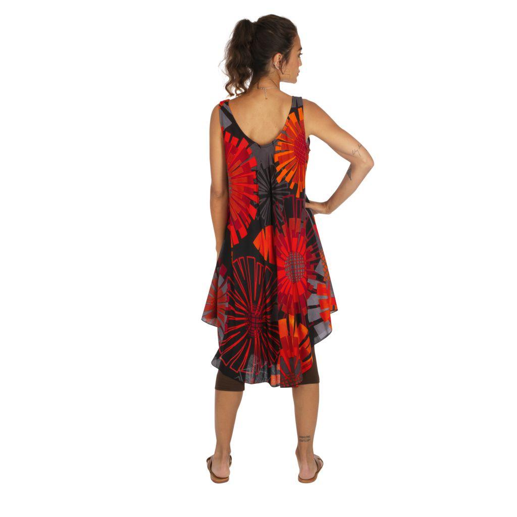Robe d'été colorée idéale comme tenue à la plage Mayotte 316999