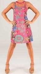 Robe d'été courte à fines bretelles Colorée et Imprimée Chana 279337
