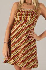 Robe d'été courte à Fines bretelles Ethnique et Colorée Cassy 277839