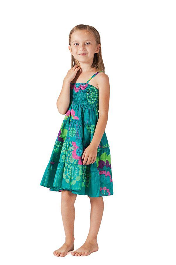 Robe d'été courte Colorée et Originale Pétunia Verte 280607