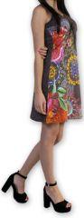 Robe d'été courte Ethnique et Colorée Alissa Grise 276607
