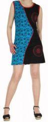 Robe d'�t� courte mode ethnique  Bleue/Noire  Banita 6 272909