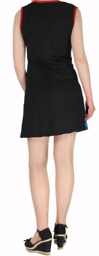 Robe d'été courte mode ethnique  Bleue/Noire  Banita 6 272910