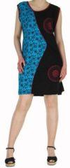 Robe d'�t� courte mode ethnique  Bleue/Noire  Banita 8 272913