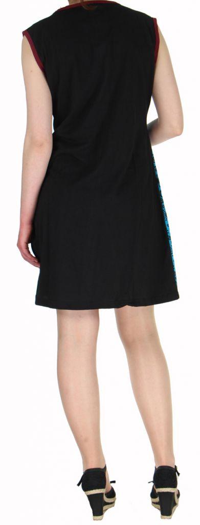 Robe d'été courte mode ethnique  Bleue/Noire  Banita 8 272914