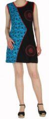Robe d'été courte mode ethnique  Bleue/Noire/Violette  Banita 5 272907