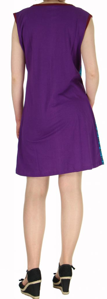 Robe d'été courte mode ethnique  Noire/Bleue/Violette  Banita 4 272906