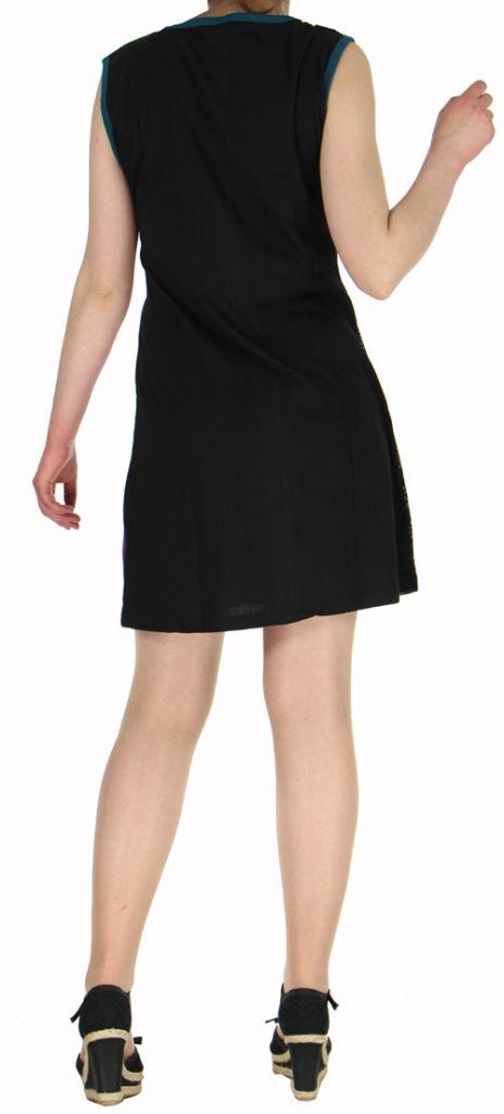 Robe d'été courte mode ethnique  Violette/Noire  Banita 2 272902